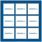 200x200mm 9-Window Mid-Blue Mat