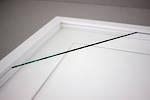 100x100mm 3-Window White Box Frame White Mat 52sw