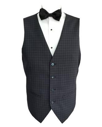 Dark grey check waistcoat