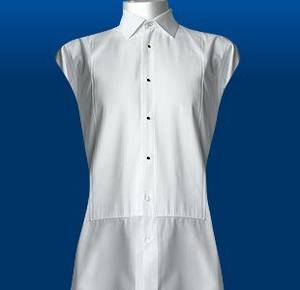 Pleat Cut Away Shirt