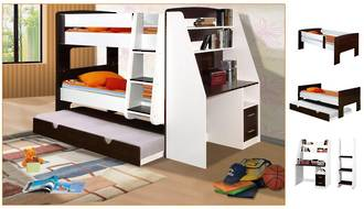 California Loft Bunk with Trundle Bed and Desk