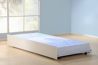 Cosmos Single Trundle Bed White