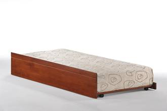 Cosmos Single Trundle Bed Oak