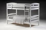 Cosmos Single Bunk White with Fixed Ladder