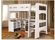 Miami White  Single Loft Bunk