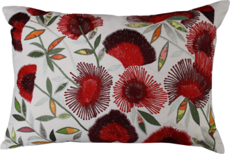 21336C | 21336FC Pohutukawa Bunches Embroidered