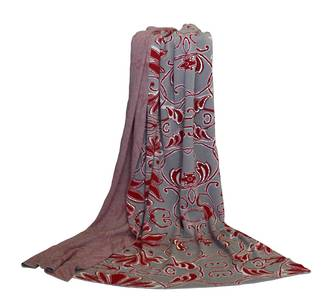 21386T Micah Throw - Taupe/Red