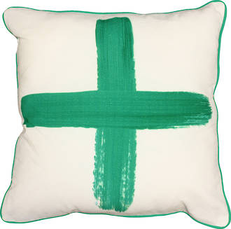 21670C Studio Painted Cross - White/Green