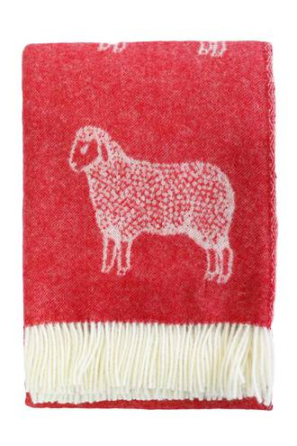 22362T Woolly Sheep Throw - Red