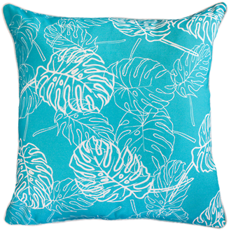 22661C Palm Leaves - Scuba Blue