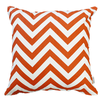 22958C Metro Zig Zag - Orange/White