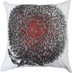 21328C Chrysanthemum Embroidered - Red/Black/White