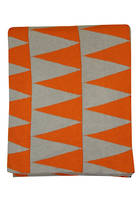 21376T Impressa Throw - Orange/Grey