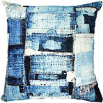 22136C Patchwork - Blue/White
