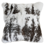 3163C | 3163FC Mottled Rabbit Fur - Black-White