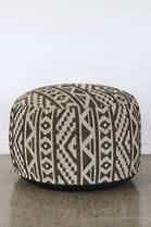 24120S Sifiso Ottoman – Black-Taupe