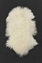 3381H Tibetan Lamb Skin - Natural White