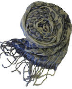 T9008 Silk Scarf - Blue Bouquet