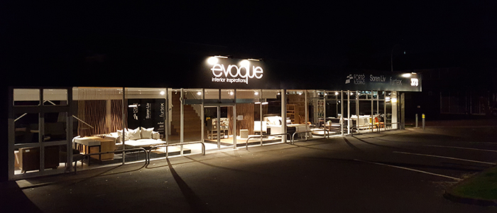 Evoque 373 New North Road Exterior at night 700px