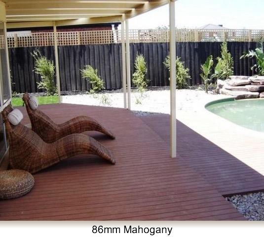 mahogany colour deck