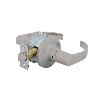 Raglan Commercial Passage Leverset with Adjustable Backset Satin Nickel