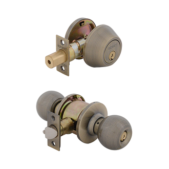 Bala Entrance Lock with Single Cylinder Deadbolt Keyed Alike