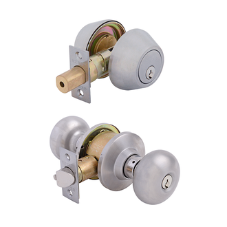 Olympus Entrance Lock with Double Cylinder Deadbolt Keyed Alike Stainless Steel
