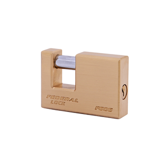 Non Rekeyable Solid Brass Rectangle Padlock F Series