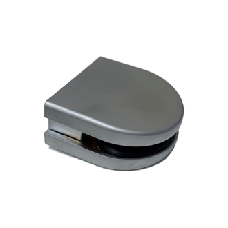 Glass Connector Square Post - Satin Chrome