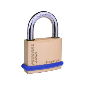 Non-Rekeyable Solid Brass Padlocks R75 with Shackle Seal