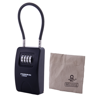 Combination Key Box Large with Cable with RF Blocking Bag