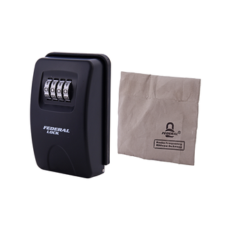 Combination Key Box Large Wall Mounted with RF Blocking Bag