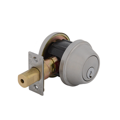 Heavy Commercial Single Cylinder  Deadbolt Satin Stainless Steel