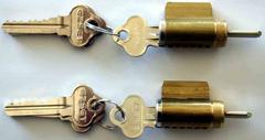 6 pin cylinder with 2 keys