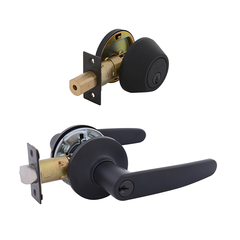 Hawthorn Entrance Lock with Single Cylinder Deadbolt Keyed Alike