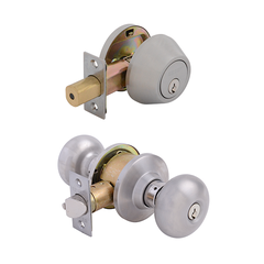 Olympus Entrance Lock with Single Cylinder Deadbolt Keyed Alike Stainless Steel