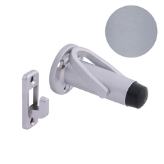 Slimline Doorstop & Hold - Brushed Chrome