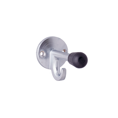 Door Stop & Hook Satin Chrome