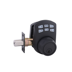 Keypad Deadbolt Manual Drive Black