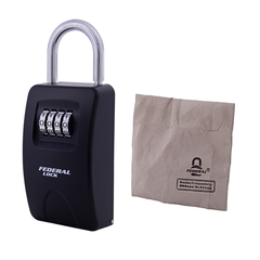 Combination Key Box Large with Shackle with RF Blocking Bag