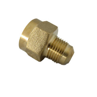 "1/2"" F x 3/8"" M Flare Gas Inlet Connector"