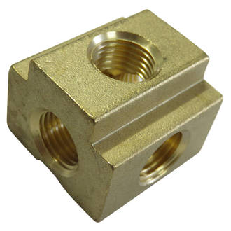 Brass Block 5 Way