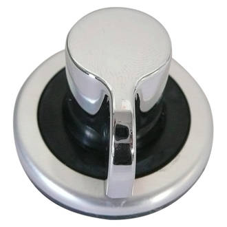 BBQ Control Knob TCG Chrome (6mm valve shaft)