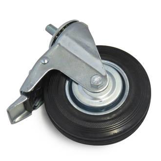 Castor wheel with brake (122mm x 33mm)