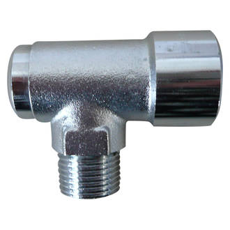"Chrome Bayonet Angled Socket - 1/2"" Male"