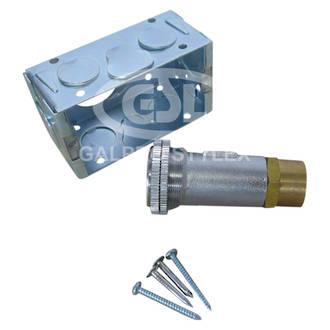 Bayonet Straight Wall Socket - Stainless Steel