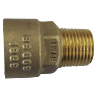 "Brass Bayonet Straight Socket x 1/2"" Male"
