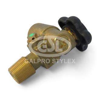 Oxygen Cylinder Valve - Pressure Retention Valve Inlet