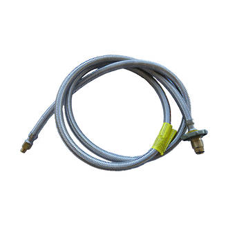 """F-Class Pigtail 2mtr, 1/4"""" Flare - with Handwheel"""