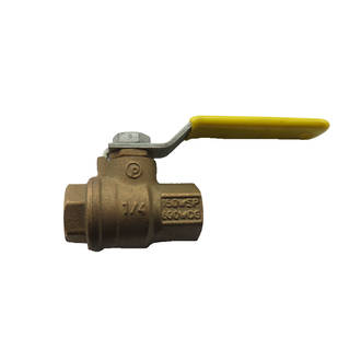 """1/4"""" F/F L/H Ball Valve (UL Approved)"""
